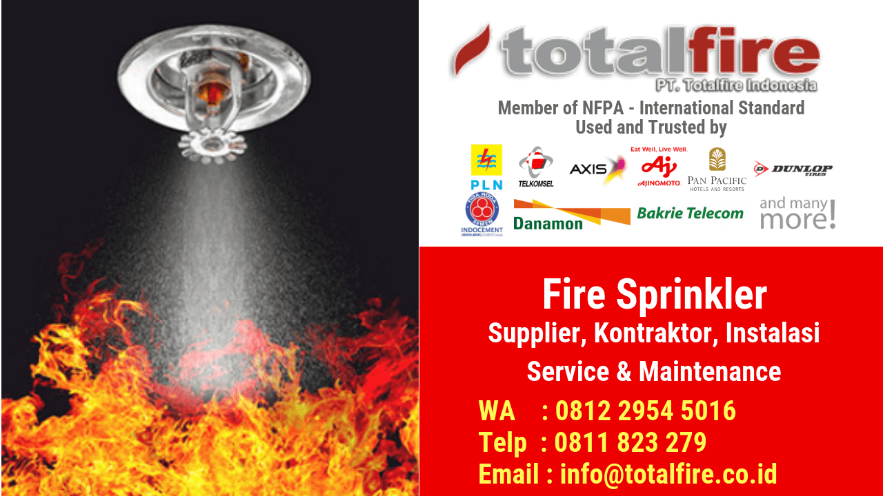 Jual sprinkler kontraktor konsultan fire protection