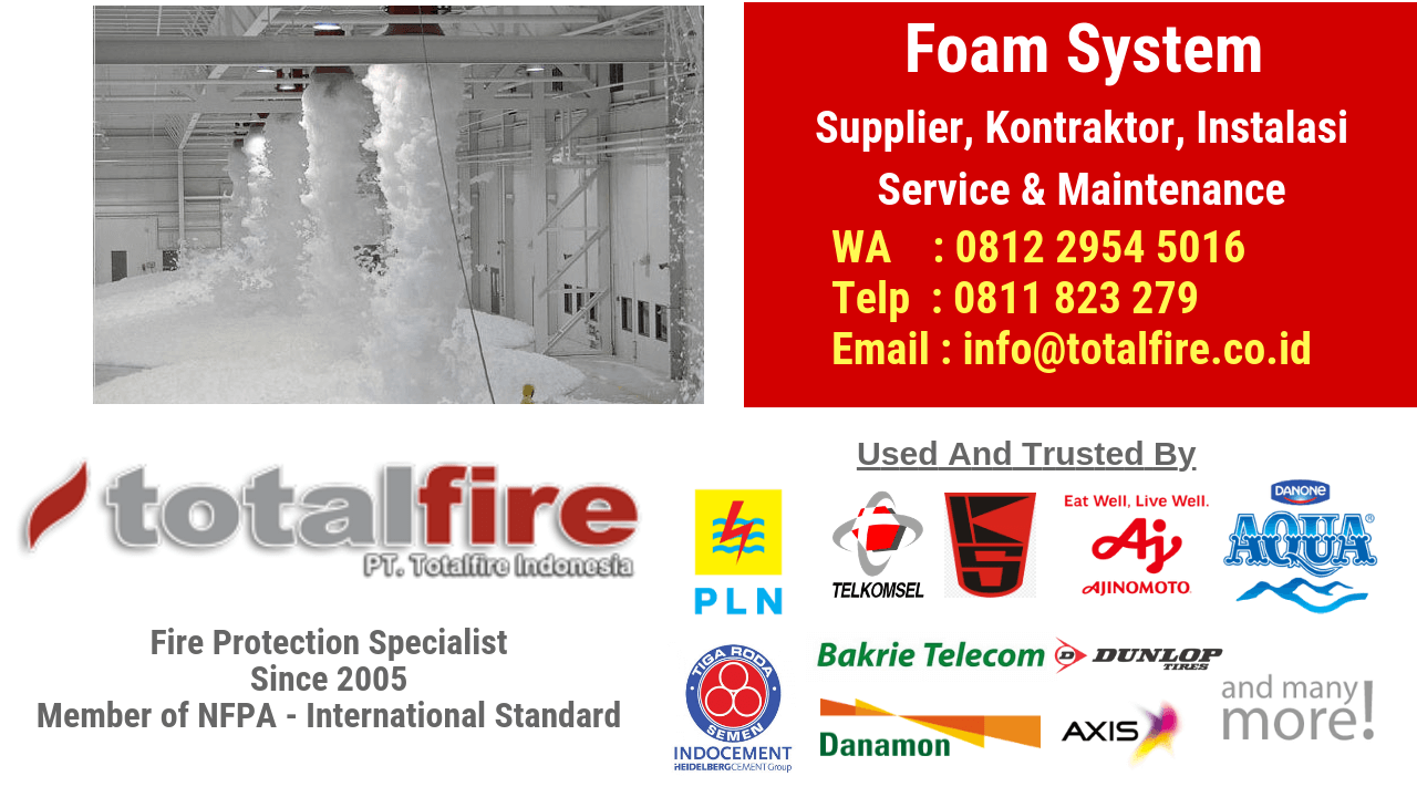 Kontraktor foam system kebakaran jakarta