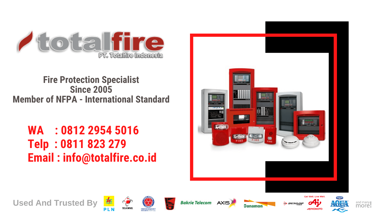 fire alarm system indonesia for factory, office, bank, data center