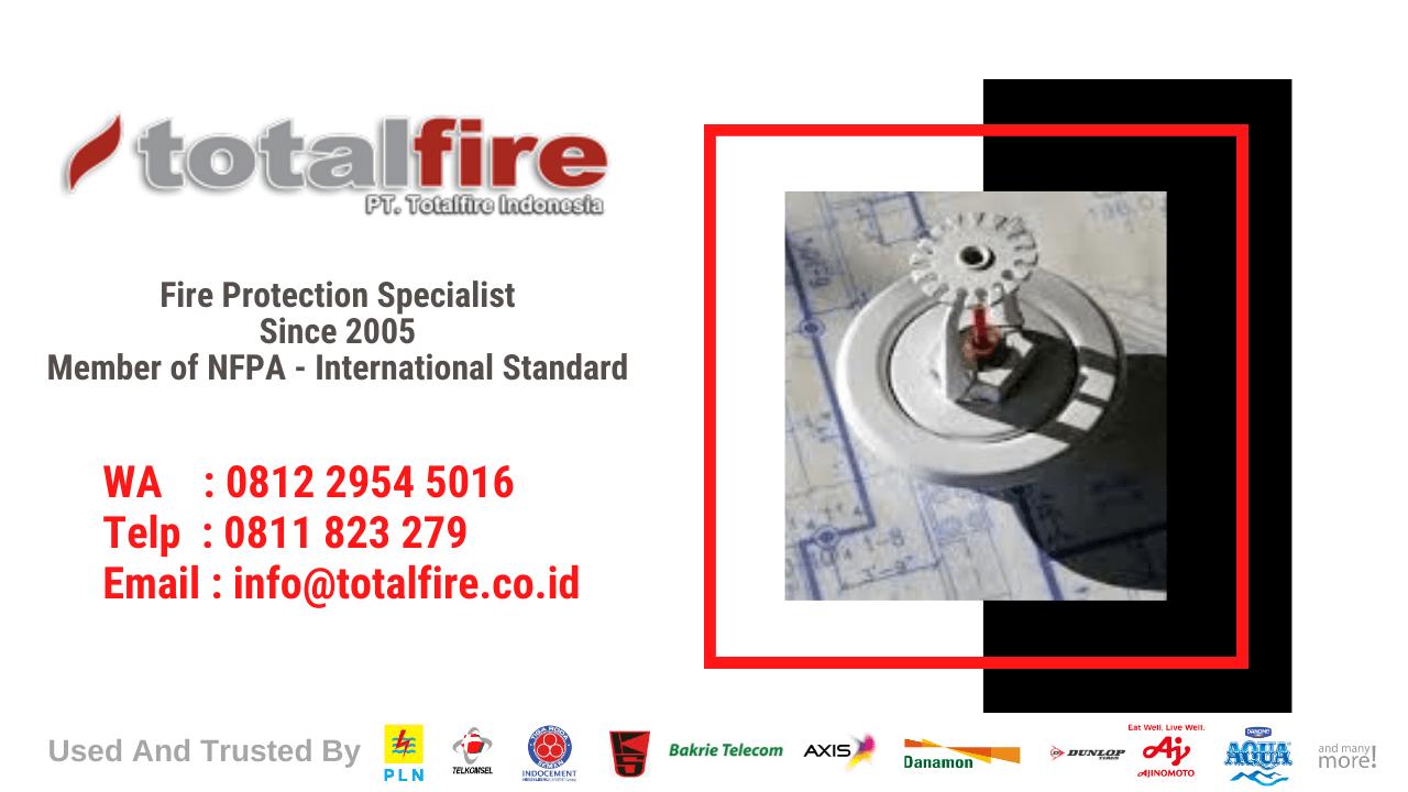 jasa pemasangan fire sprinker indonesia, jakarta, surabaya, batam