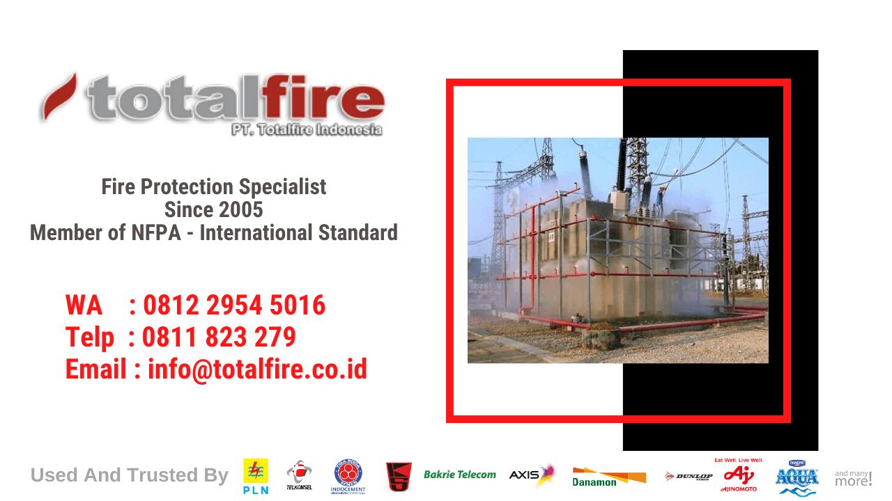sistem pemadam kebakaran otomatis dan pencegahan di pabrik pertambangan kapal